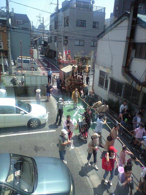 事務所3Fから観る天王祭