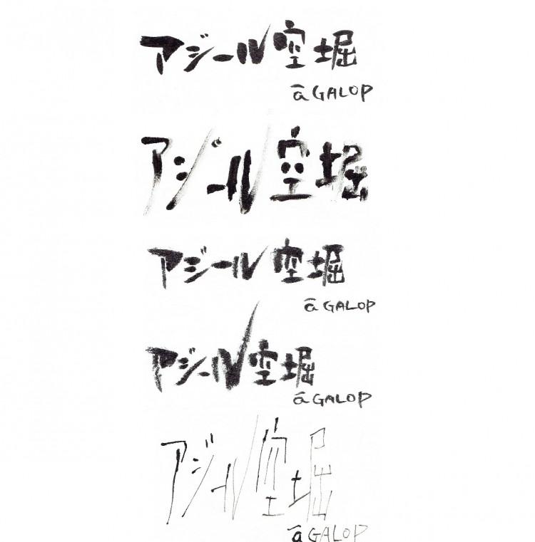 アジール題字 発起人12名の投票